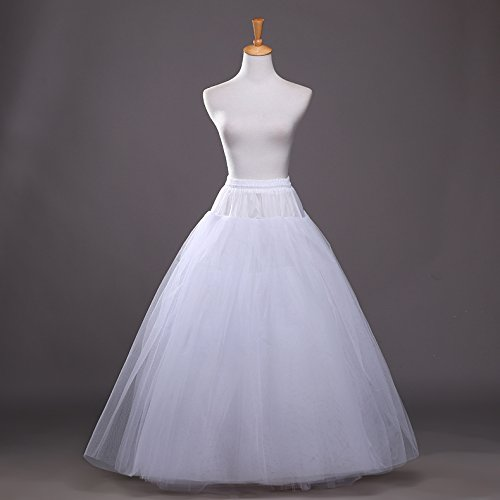 Vimans Women's White A-line Hoopless Wedding Crinolines for sale  Delivered anywhere in UK