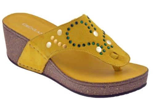 Grunland Cio224 Wedge 50 Tongs Neuf Chaussures F. Jaune