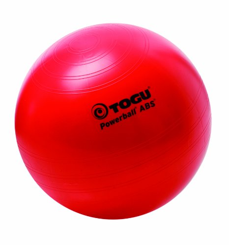 Togu Gymnastikball Powerball ABS (Berstsicher), rot, 45 cm (Cm Ball Fitness 45)