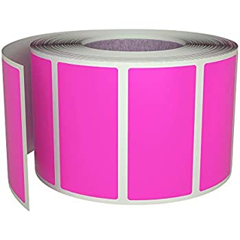 Fluorescent Bright Pink Magenta 30 Colours Available 65x30mm Rectangular Colour Code Stickers Packs of 45 Coloured Rectangle Sticky Labels