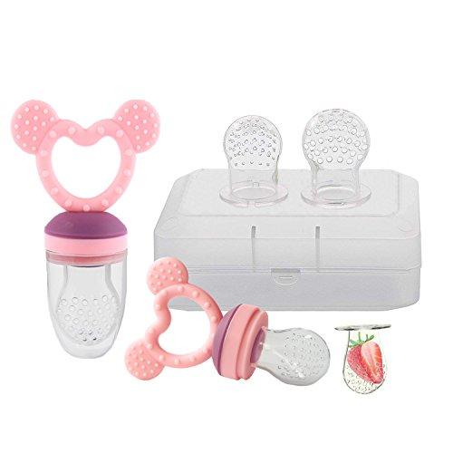 SOYAR Comedero de bebé, Comedero de frutas, Chupete/Infantil, juguetes de dentición para...