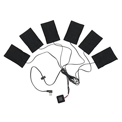 YONGYAO 6 In 1 USB-Elektrische Heizung Thermische Kleidung Pads Erhitzt Mobile Erwärmung Ausrüstung 46-in-1 Usb
