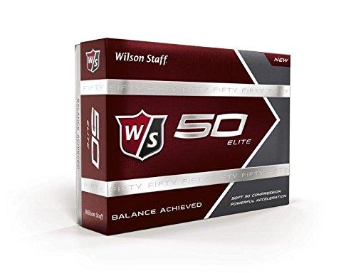 WILSON Staff Fifty Elite Golf Bälle, 12Stück, Herren, WGWP17002, weiß, Large -