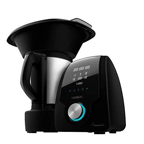Cecotec Robot de Cocina Multifunción Mambo Black . Con 23 Funciones, Pantalla Digital, Jarra de...