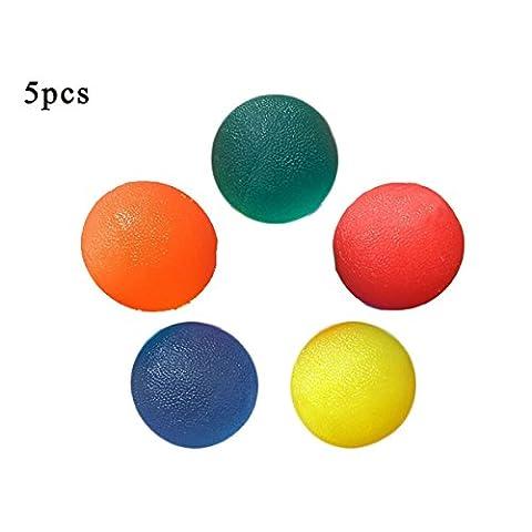 Lot de 5Plusieurs résistance à la thérapie d'exercice Gel Squeeze Balles pour main doigt poignet muscles d'arthrite Grip Exerciseur fortifiant