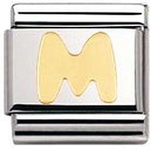 Nomination Composable Classic BUCHSTABEN Edelstahl und 18K-Gold (M) 030101
