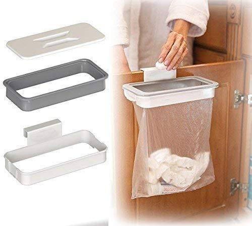 Pveath Befestigung einer Trash-zum Aufhängen Trash kann Mülleimer, Schrank Tür Rückseite Trash Rack Storage Garbage Bag Holder Aufhängen Küche Schrank Küche Werkzeuge (Garbage Bag Storage)