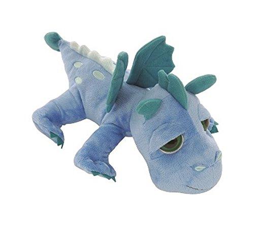 Li'l Peepers 14252 - Suki Gifts Plüschtier Drache Firestorm mit Bestickung, 33 cm, blau