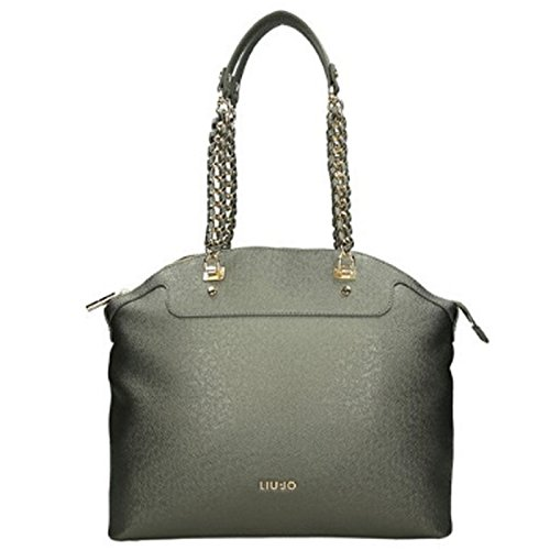Borsa shopping Liu Jo L anna chain gun metal