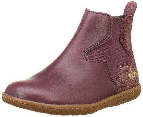 Kickers Mädchen Vermillon Chelsea Boots, Rot (Bordeaux), 36 EU (Boot Mädchen)