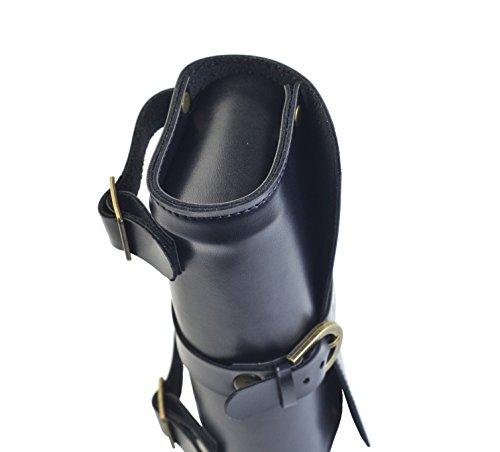 handgefertigte England Vintage Satteltasche fürs Fahrrad, Größe 19x 9x 5cm Schwarz