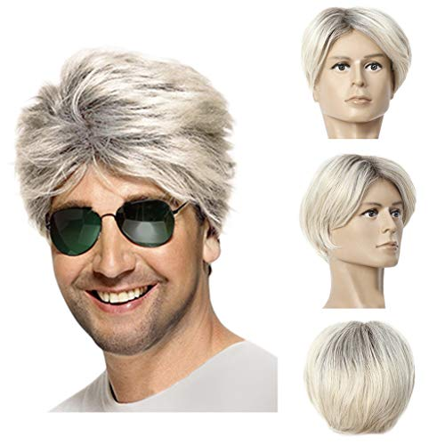 Mode Kurze Perücken für Männer, Zolimx Perücke Mann Männliche Goldene Steigung Hübsche Coole Perücke Neu