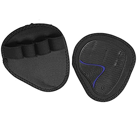 Weight lifting Gel Gym Hand Grips Palm Pads Support Training Gloves Strap Wrap Q FREE DELIVERY UK