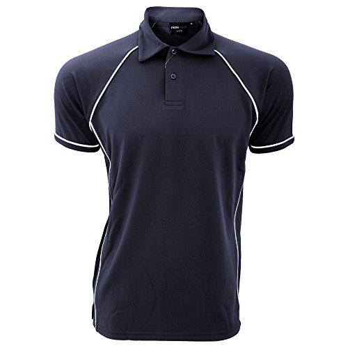 Finden & Hales Herren Sport Polo-Shirt Violett/Marineblau