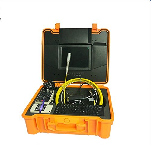 Preisvergleich Produktbild Gowe Professionelle Unterwasser Kamera Rohr Prüfung Maschinen mit Meter Zähler und 20m Zugstange Kabel Waschschalen Sensor Größe: 1/10,2cm; horizontale Auflösung: 480TVL; Signal System: NTSC