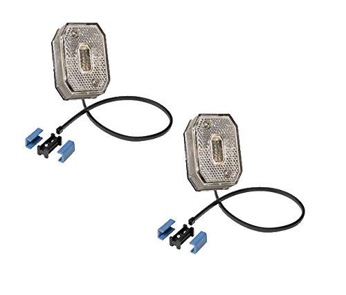 2 x Aspöck Flexipoint 1 weiss LED m. 0,5 m DC-Kabel + DC Verbinder - 31-6309-007