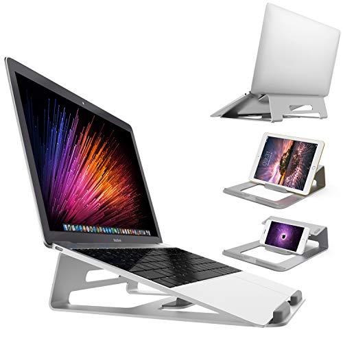 massway Supporto per Computer Portatile 15.6 Laptop Stand Stabile Lega di Alluminio Integrato Design Multifunzione Supporto Laptop Ergonomico per
