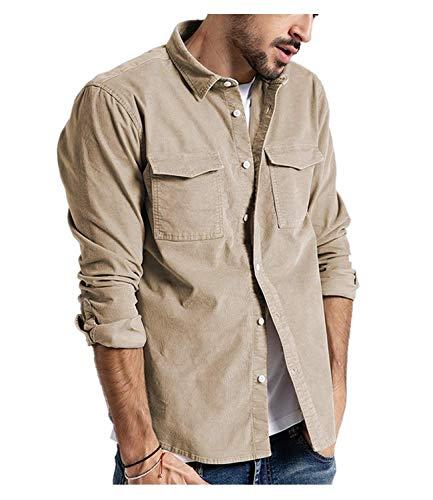Camisas Manga Larga Hombre Originales Camisa Leñador Hombre Moda Camisa Franela Hombre Slim Fit Blouse...