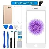 FLYLINKTECH iPhone 6 Plus Display Weiß LCD Touchscreen Digitizer Ersatz Bildschirm Front Komplettes Glas mit Werkzeuge Für iPhone 6 Plus Weiß 5.5
