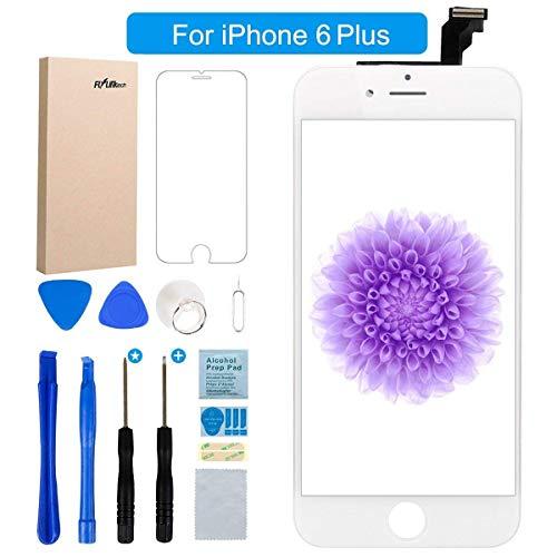 """FLYLINKTECH Für iPhone 6 Plus Display Weiß LCD Touchscreen Digitizer Ersatz Bildschirm Front Komplettes Glas mit Werkzeuge Für iPhone 6 Plus Weiß 5.5\"""" (Für iPhone 6 Plus, Weiß)"""