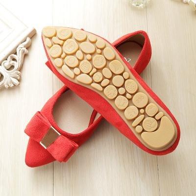 & Qq Rouge Chaussures de mariée, plat avec les chaussures de chaussures de mariage, louche Nœud côté en daim Chaussures 43