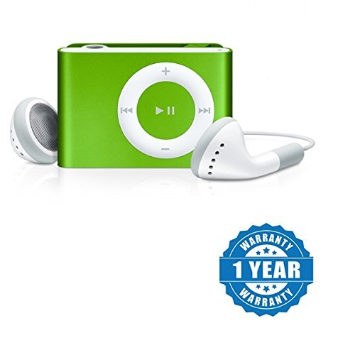 Captcha Stylish MP3 Player with SD Card Slot (Metal Body) (Green)
