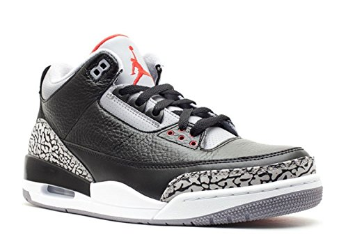 Nike Air Jordan 3 Retro True Blue-Leder-Turnschuh (Jordan Retro 3 Sport Blue)