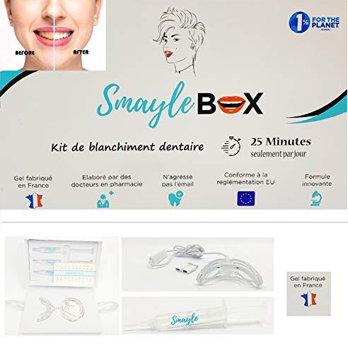 Kit Blanchiment Dentaire Professionnel à domicile | Formule sans peroxyde pour des dents blanches et un sourire éclatant | Conçu et fabriqué en France