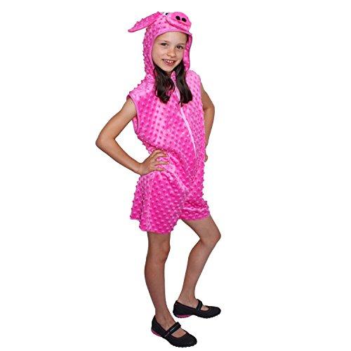 Krause & Sohn Kinder Kostüm Ferkel Piggy Schwein Schweinchen Tier Karneval Fasching (116)
