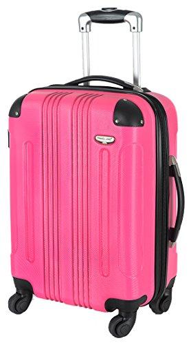 Valise rigide en carbone/couleur case valise trolley polycarbonate rose taille l