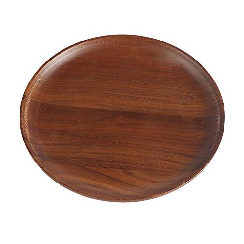 MagiDeal Plate-forme à Plateau En Bois Rond Cuisine & Maison Vaisselle Plats de Service Assiettes - S