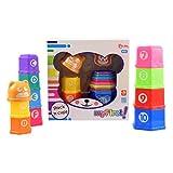 Baby Stapelbecher Set mit Buchstaben und Zahlen Lernspielzeug Bauklötze Bauen Spielzeug