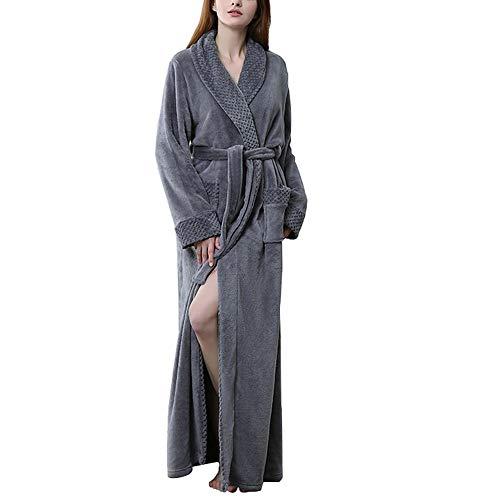 T.M.R.W. Clothing Pyjamas, Herbst und Winter Flanell Nähen Nachthemd Lange Männer und Frauen Paare Pyjamas Bad Bademäntel