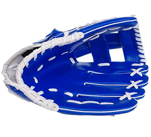 uh Sport Ball Handschuh-Schwarz, Blau & Khaki Outdoors Batting Handschuhe Für Kinder Und Erwachsene Catcher's Mitt,Blue ()