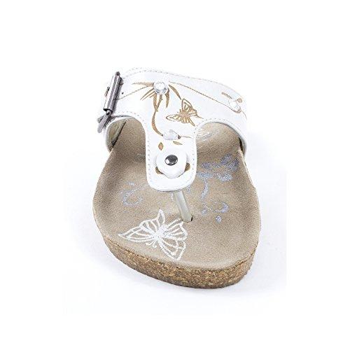 Sandales tongs fille blanc NANOU GBB Blanc