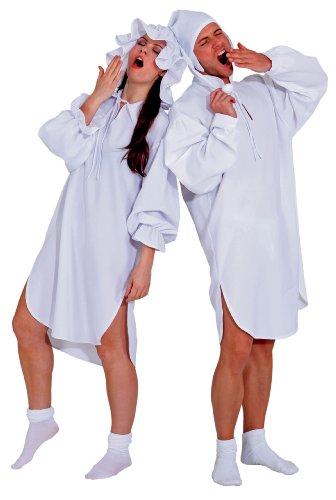 Nachthemd Damen Schlafwandlerin mit Mütze Pyjama