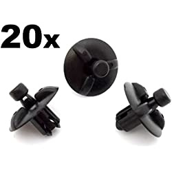20x Engine Cover Clips- Plastic Trim Fasteners for Motor Shields & Panels - air filter box, air filter housing (532590E010, 53259-0E010, 5325948010, 53259-48010)