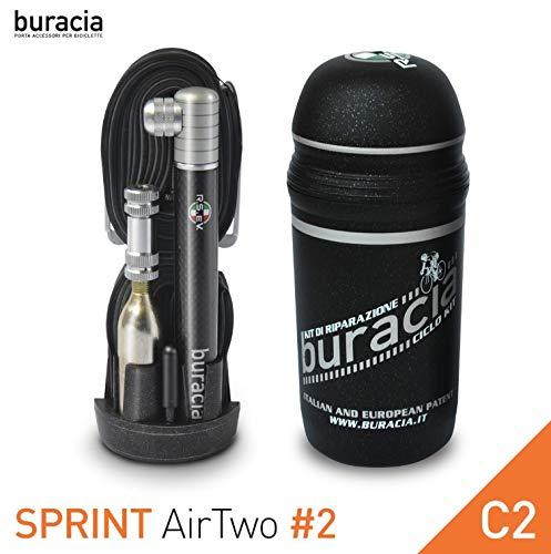 buracia - Kit antiforatura - Riparazioni Biciclette - Serie Sprint AirTwo Modello #2, Colore C2 - Bici da Corsa. Made in Italy.