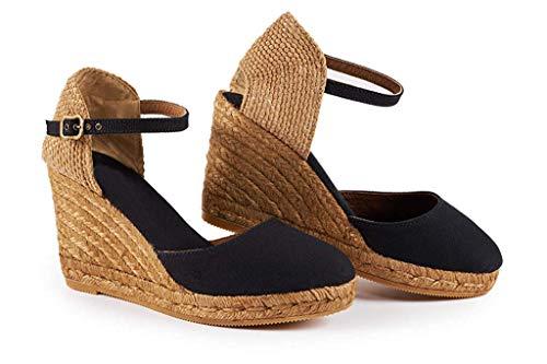 Sexy Platform Wedge (Lueyifs Damen Keilabsatz Espadrilles Wedge Knöchel Schnalle Closed Toe Sandalen Slingback Schuhe)