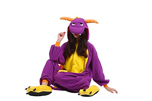 Imagen de yuwell unisex kigurumi disfraz animal adulto anime cartoon cosplay onesie pijamas party halloween pijamasm, dragón morado l height 170 180cm  alternativa
