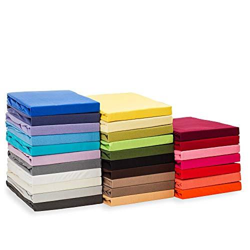 #2 Etérea Kinder Jersey Spannbettlaken, Spannbetttuch, Bettlaken, 60x120 - 70x140 cm, Pink