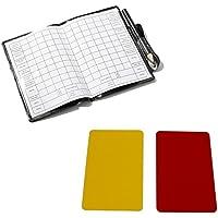 Katech fútbol árbitro tarjetas de puntuación portátil Set rojo y amarillo de repuesto hojas de puntuación fútbol deportes árbitro equipo