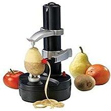 Automático eléctrico Frutas pelador de patatas Herramientas multifunción acero inoxidable Rallador de verduras