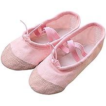 Scarpette da Ballerina per Bambine e Ragazze Tela Balletto Pointe Danza  Scarpe Fitness Ginnastica Pantofole per a39bd88bf96