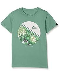 Quiksilver EQBZT03356-GND0_XS/8, Camiseta Para Niños, Verde, M