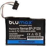 Batterie de remplacement: Batterie Li-Ion pour Navman BP-LP 1230/11-A0001U, Navman S 20, BLUMAX