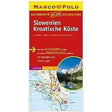 Marco Polo Autokarte plus Reiseguide Slowenien-Kroatische Küste 1:300 000