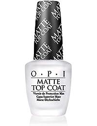 OPI Matte Top Coat – Capa Superior Mate para un Acabado de Larga Duración tras el Esmalte de Uñas, Efecto Manicura Profesional - 15 ml (22002218000)