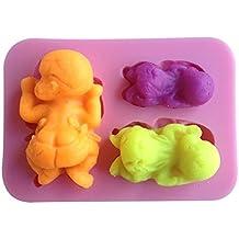 Karen Baking Forma de bebé del silicón 3D molde de pastel para la torta pasta de