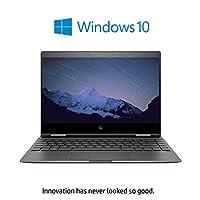 HP Spectre x360 13-ae010ne 2-in-1 Laptop - Intel Core i7-8550U, 13.3-Inch FHD Touch, 512GB SSD, 16GB, Eng-Arb-KB, Windows 10, Dark Ash Silver